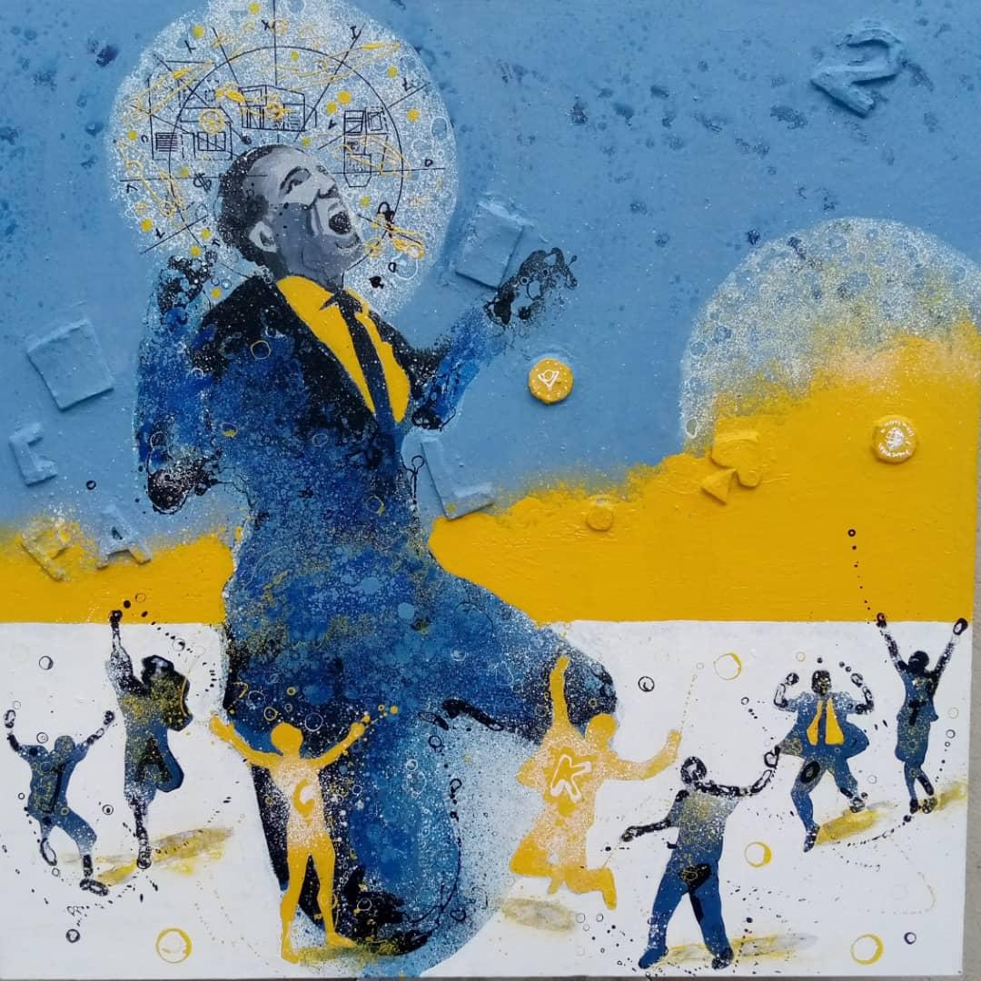 Arts visuels / Concours Lydia Ludic Talents. Le plasticien Gnohité dévoile son oeuvre » Jack, le pote du bonheur «, symbole de la prospérité partagée.